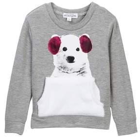 Ten Sixty Sherman Polar Bear Faux Fur Trimmed Sweater (Little Girls)