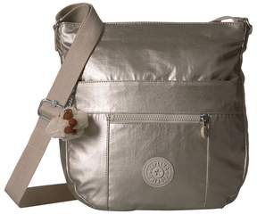 Kipling Bailey Saddle Bag Handbag Handbags - CLOUD GREY METALLIC - STYLE