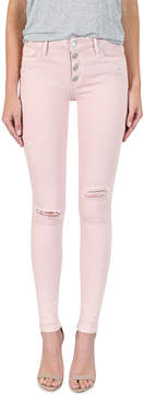 Black Orchid Jude Distressed Mid-Rise Skinny Jeans, Rose