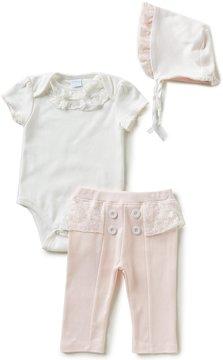 Edgehill Collection Baby Girls Newborn-6 Months Prettiness 3-Piece Layette Set