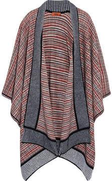 Missoni Crochet-knit Wool-blend Wrap - Navy