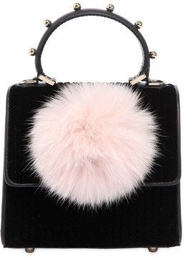 Baby Alex Bunny Velvet Top Handle Bag