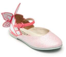 Sophia Webster Baby's, Toddler's & Kid's Chiara Mini Pink Glitter Shoes