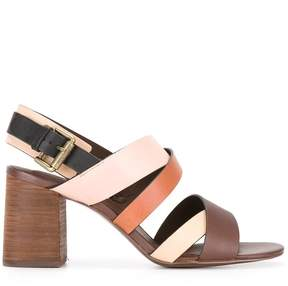 See by Chloe stacked heel sandals