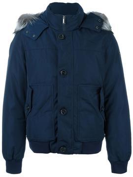 Michael Kors short zipped parka coat