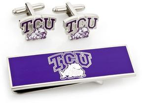 Ice TCU Horned Frogs Cufflinks and Money Clip Gift Set
