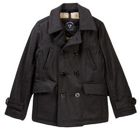 Urban Republic Mix Media Fleece Lined Peacoat Jacket (Big Boys)
