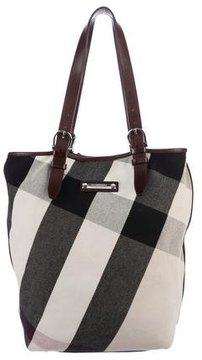 Burberry Exploded Check Tote - BROWN - STYLE