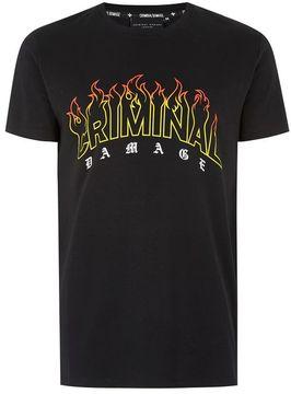 Criminal Damage Black Blaze T-Shirt