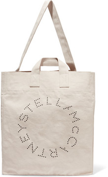Stella McCartney - Printed Cotton-canvas Tote - Cream