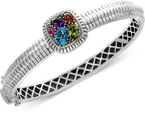 Effy Final Call by Multi-Gemstone Bangle Bracelet (2 ct. t.w.) in Sterling Silver & 18k Gold
