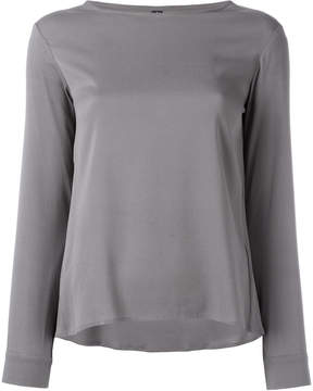 Eleventy long-sleeved top with scoop neckline