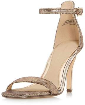 Head Over Heels *Head Over Heels by Dune Gold 'Madera' Heeled Sandals