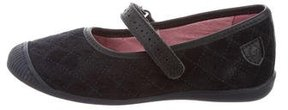 Jacadi Girls' Quilted Round-Toe Flats