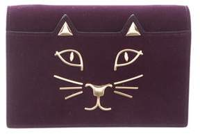 Charlotte Olympia Purple Clutch