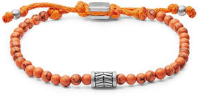 Fossil Vintage Casual Orange Beaded Bracelet