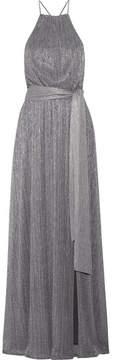 Halston Metallic Lurex Gown - Silver