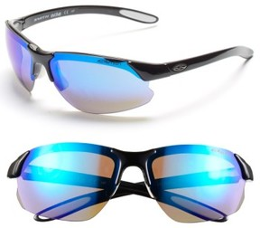 Smith Women's 'Parallel D Max' 65Mm Polarized Sunglasses - Black White/ Blue/ Clear