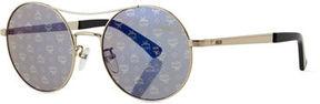 MCM Holographic 3D Visetos Round Sunglasses