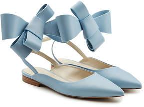 DELPOZO Leather Bow Ballerinas