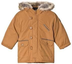 Absorba Tan Padded Hooded Coat