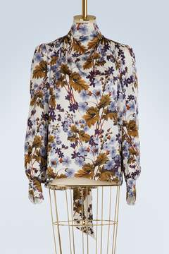 Erdem Inessa printed satin top