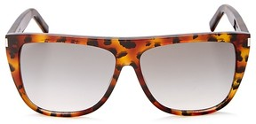Saint Laurent Havana Oversized Square Sunglasses, 58mm