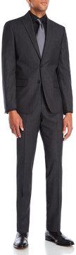 DKNY Dark Grey Wool Suit