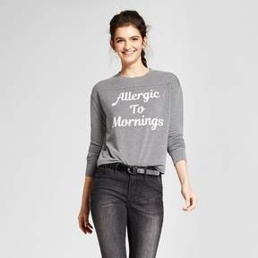 Fifth Sun Women's Allergic to Mornings Graphic Pullover Sweatshirt Juniors') Gray