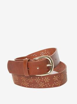 Dorothy Perkins Tan Flower Punch Out Belt