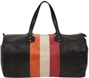 Ghurka Black Leather Travel Bag