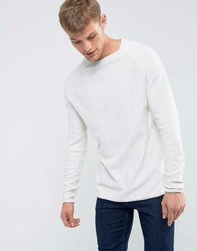 New Look Knitted Sweater In Off White