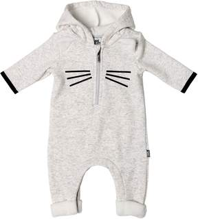Karl Lagerfeld Cotton Jersey & Faux Terrycloth Romper