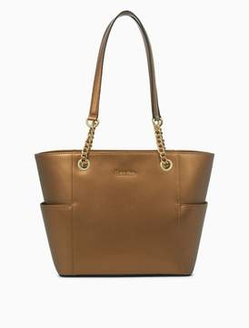 Calvin Klein leather chainlink tote bag