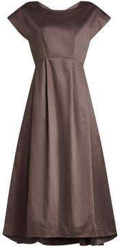 Jil Sander Navy Cotton Dress with Full Skirt