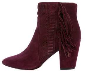 Rebecca Minkoff Suede Fringe Ankle Boots