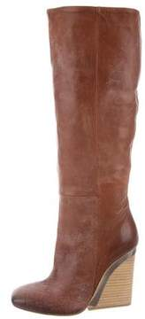 Vic Matié Leather Round-Toe Boots w/ Tags