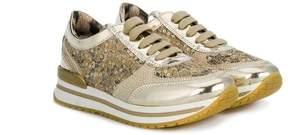 Roberto Cavalli lace panel sneakers