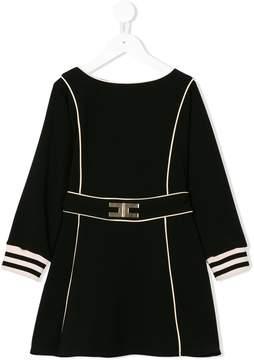 Elisabetta Franchi La Mia Bambina panelled striped cuff dress