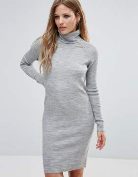 Noisy May Long Sleeve Roll Neck Wool Mix Dress