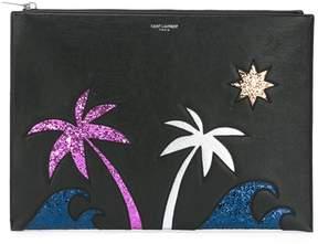 Saint Laurent Paris Sea, Sex & Sun zipped tablet holder