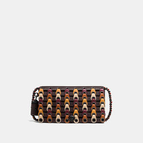 COACH DINKY IN LINK GLOVETANNED LEATHER - f37296 - BLACK COPPER/CHESTNUT MULTI