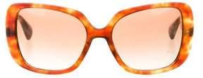 Miu Miu Marbled Square Sunglasses