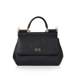 Dolce & Gabbana Sicily leather handbag - BLACK - STYLE