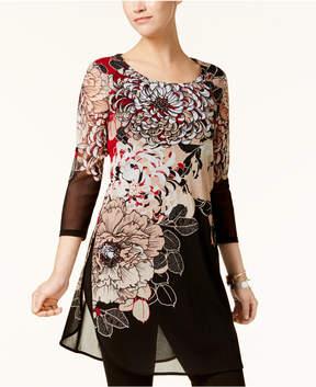 Alfani Floral-Print Tunic, Created for Macy's