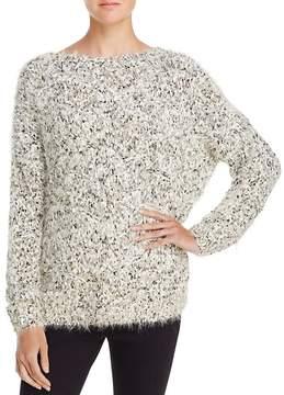 En Creme Metallic Textured Sweater
