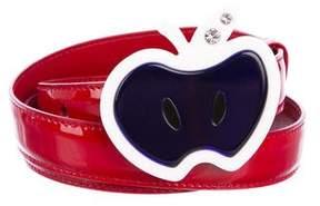 Miu Miu Apple Patent Leather Belt