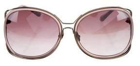 Linda Farrow Oversize Gradient Sunglasses