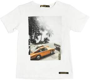 Finger In The Nose Surf Car Printed Cotton Jersey T-Shirt