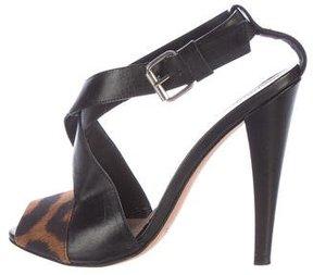 Giambattista Valli Leather Crossover Sandals